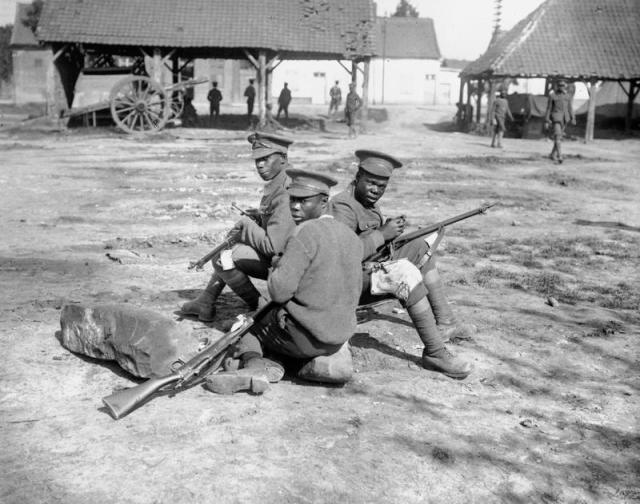 West Indian soldiers in France 1916