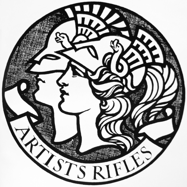 Artists Rifles badge. Photo credit Artists Rifles Association