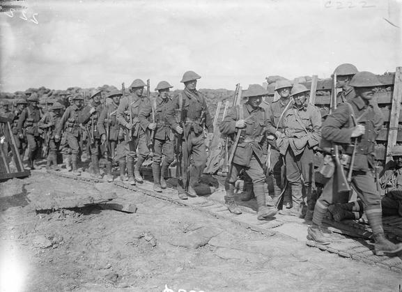 Australian troops in France, 1916