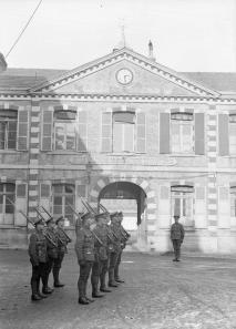 A guard detachment of the Royal Guernsey Light Infantry at Montreuil-sur-mer in 1918