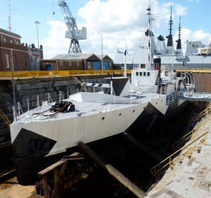 HMS_Monitor_M33_-_4_April_2010_at_Portsmouth_Naval_Dockyard